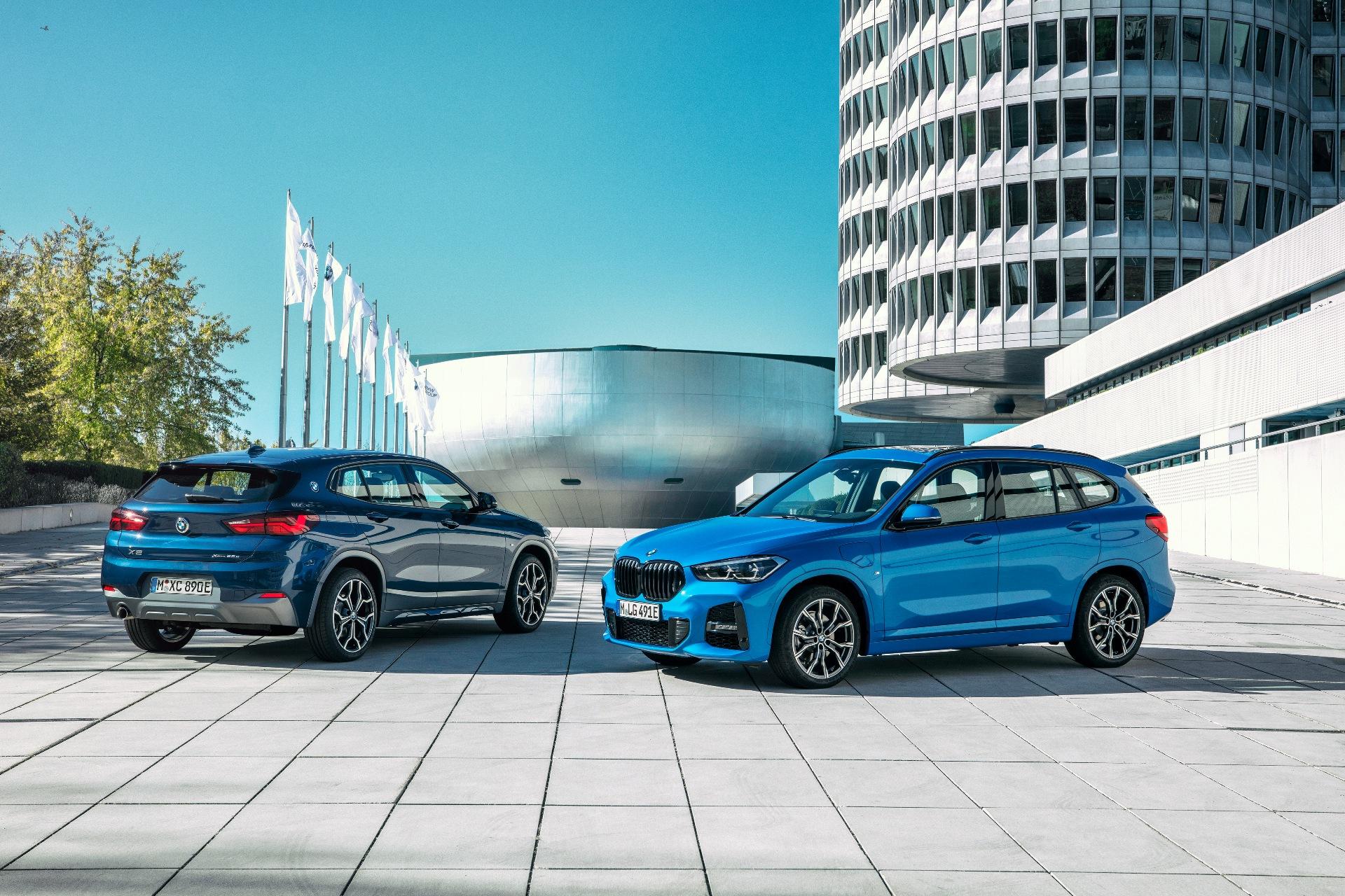 The new BMW X1 xDrive25 and X2 xDrive25e 2