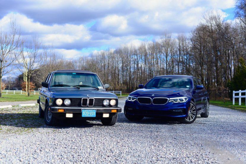1983 528e E28 vs 2017 540i G30 02 830x553