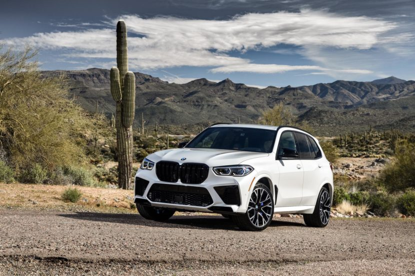 2020 BMW X5M Mineral White 50 830x553