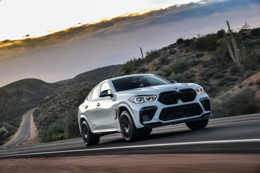 2020 BMW X6M Competition Mineral White 18 830x553