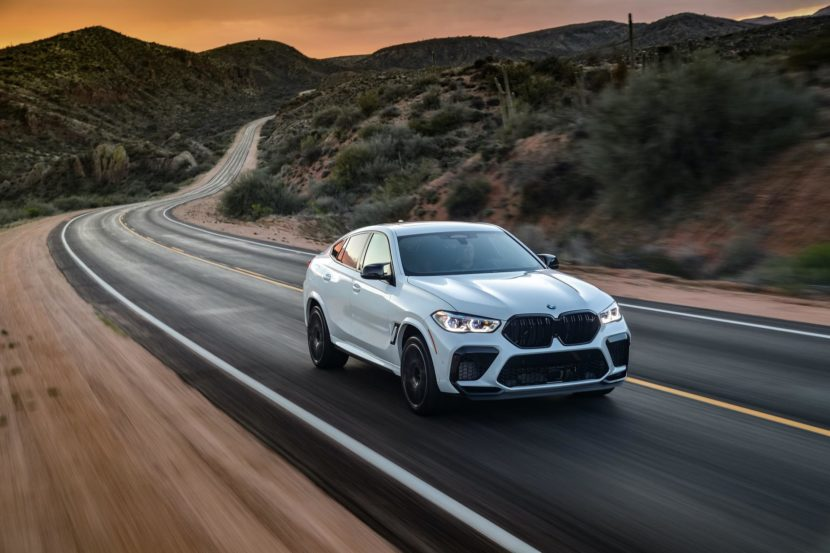 2020 BMW X6M Competition Mineral White 21 830x553