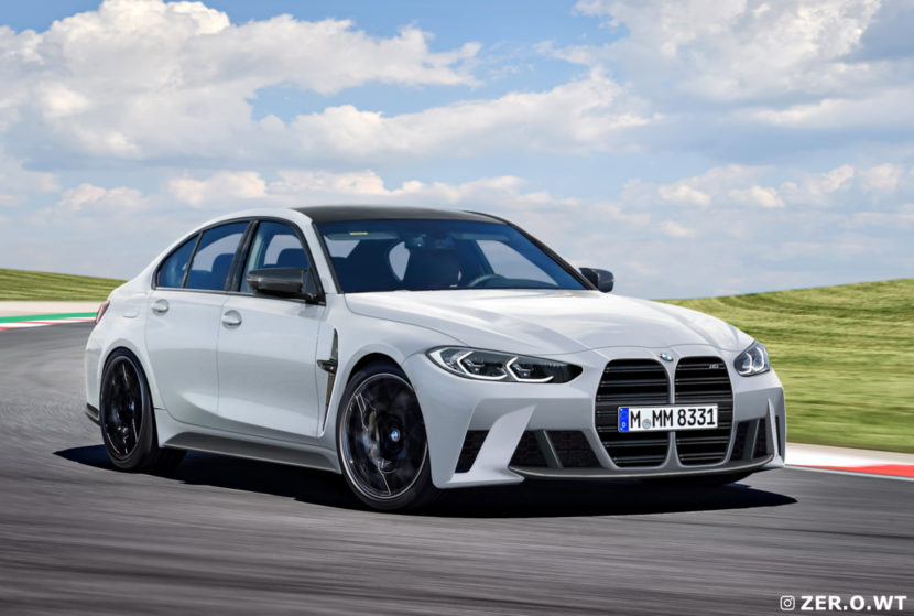 2021 BMW M3 Sedan: New render show the front and rear of the G80