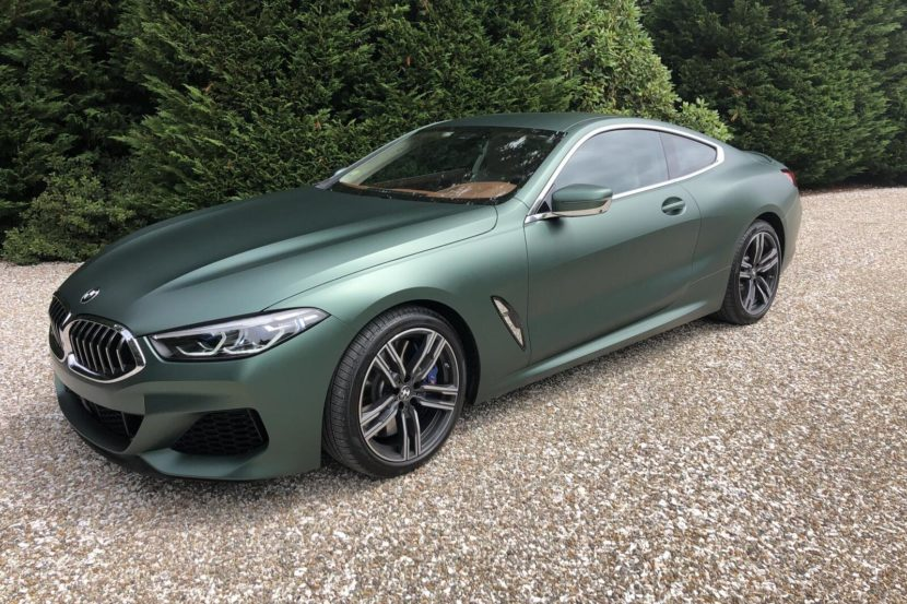 BMW 8 Series Coupe Matte Pine Green metallic 6 830x553
