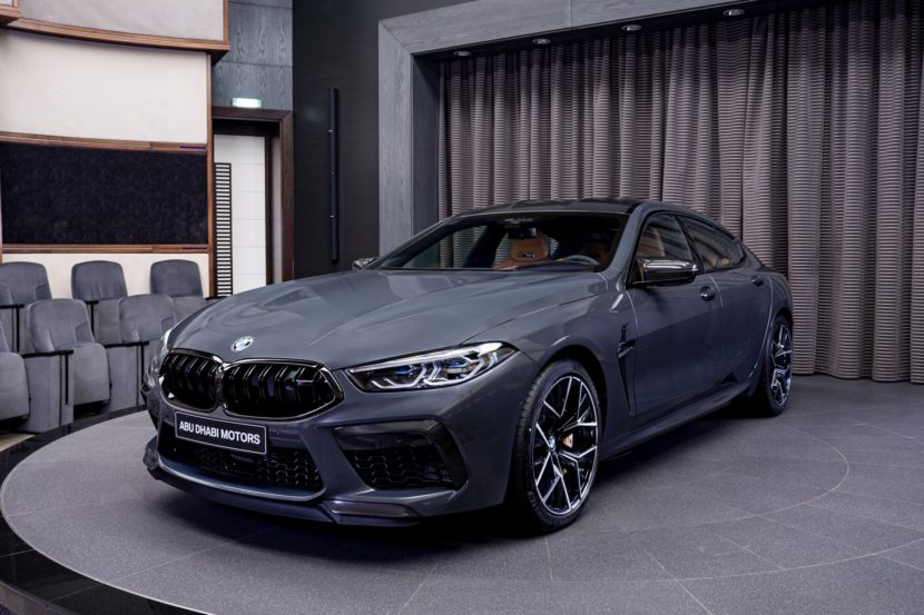 BMW M8 Competition Gran Coupe F93 in Brands Hatch Grey 2 830x553