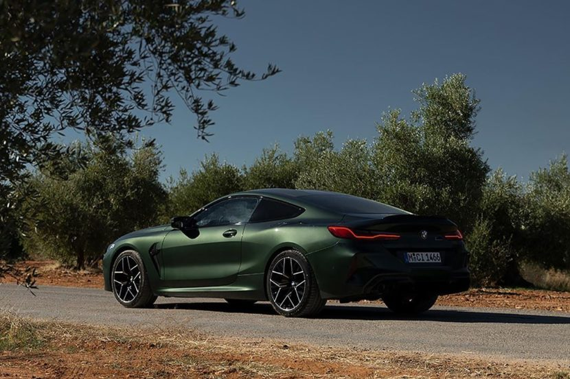 Malachite Green BMW M8 Competition Coupe F92 2 830x553