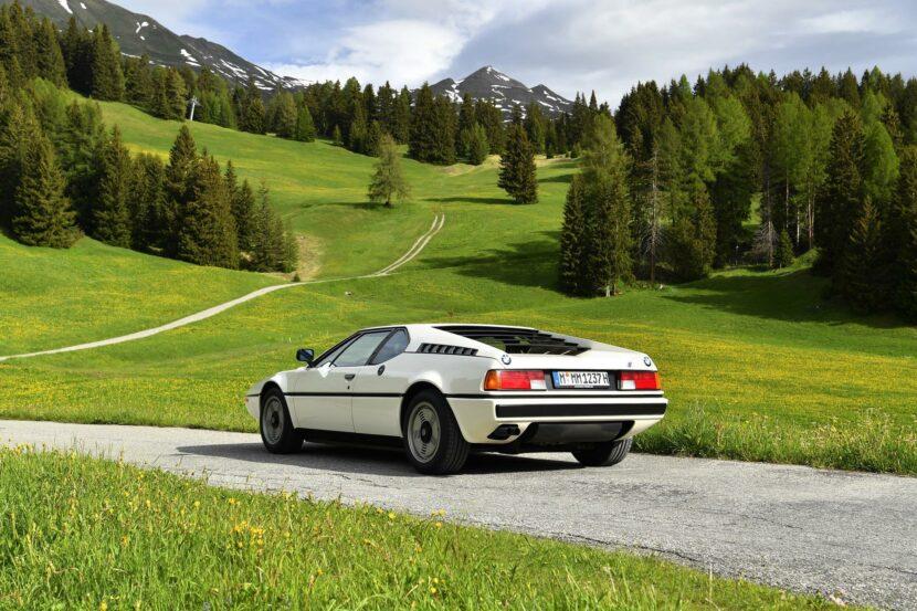 1980 BMW M1 Белый 03 830x553