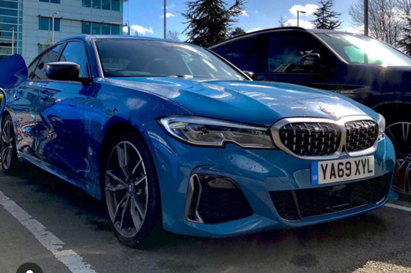 2020 BMW M340d G20 Laguna Seca Blau Individual 01 830x552