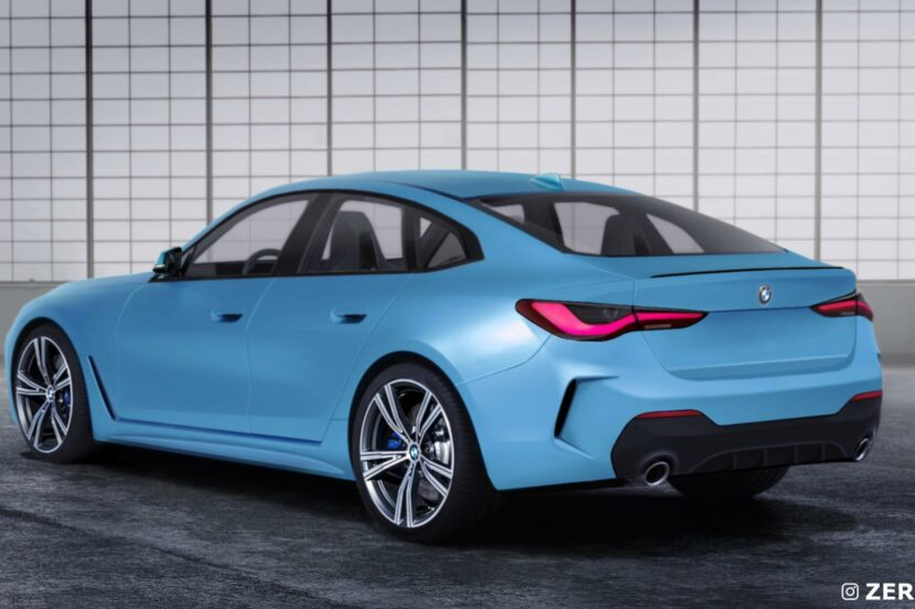 2021 BMW 4 Series Gran Coupe rear end 02 830x553