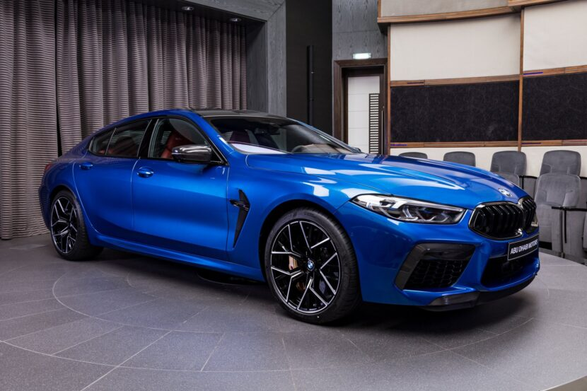 BMW M8 Competition Gran Coupe F93 featured in Sonic Speed Blue 7 830x553