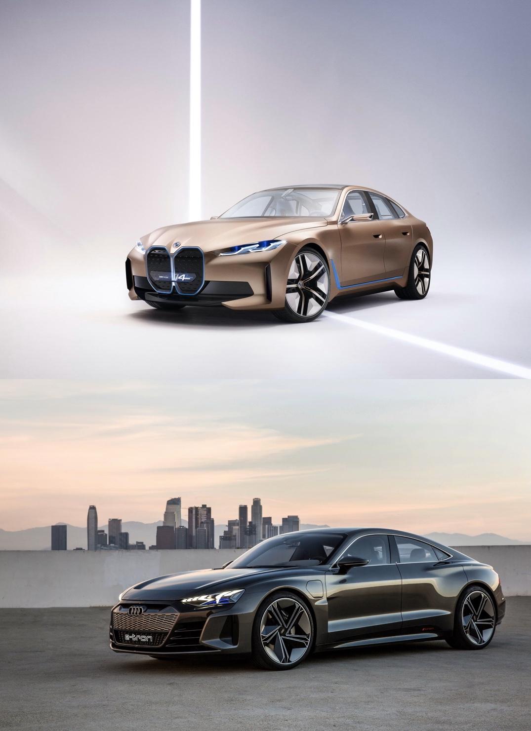 BMW i4 Audi etron gt