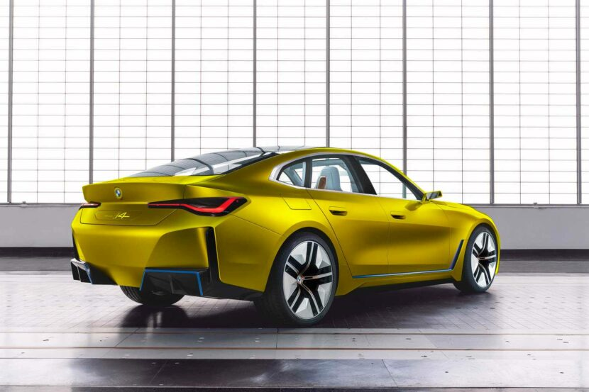 BMW i4 concept austin yellow 830x553