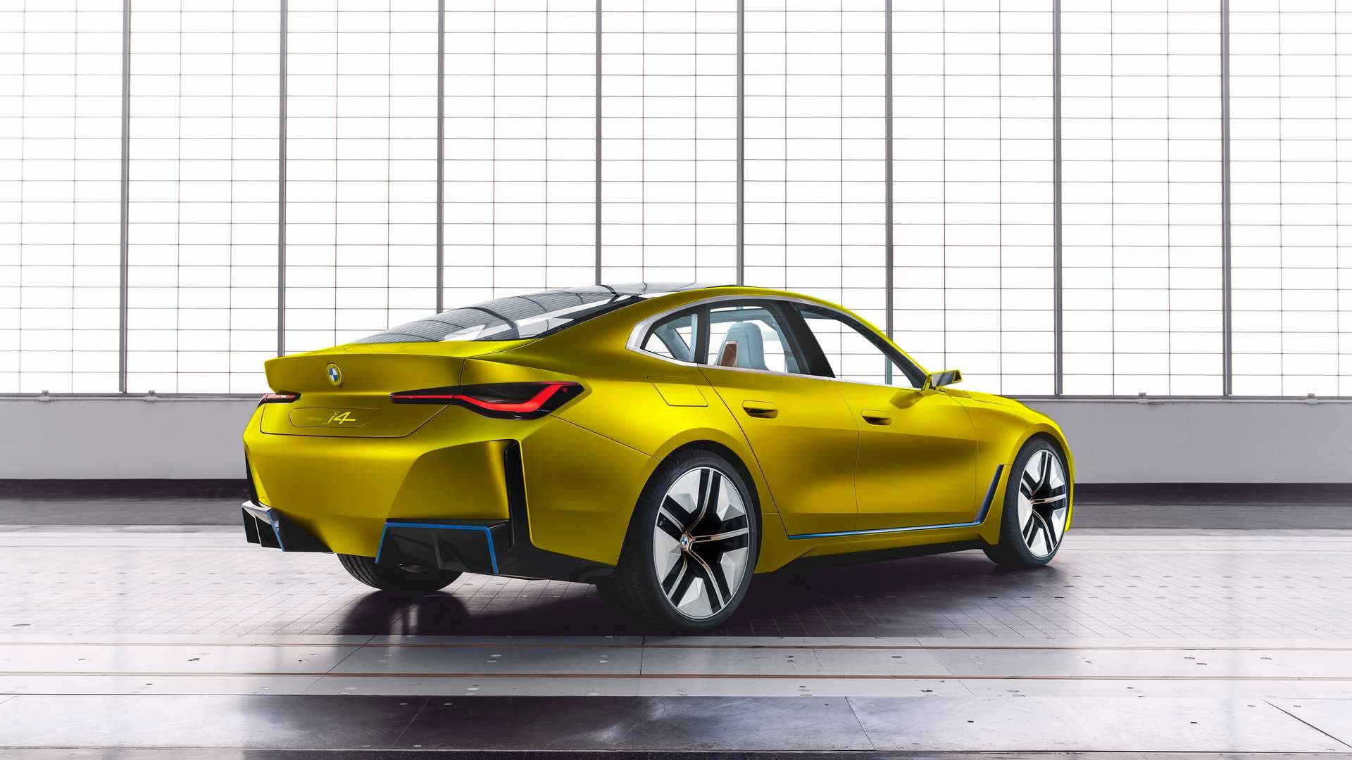 BMW i4 concept austin yellow