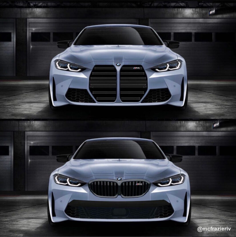 2021 bmw m4 kidney grille faceoff large vs small