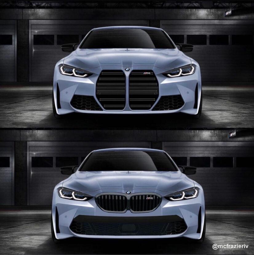 BMW m4 rendering kidney grille 826x830