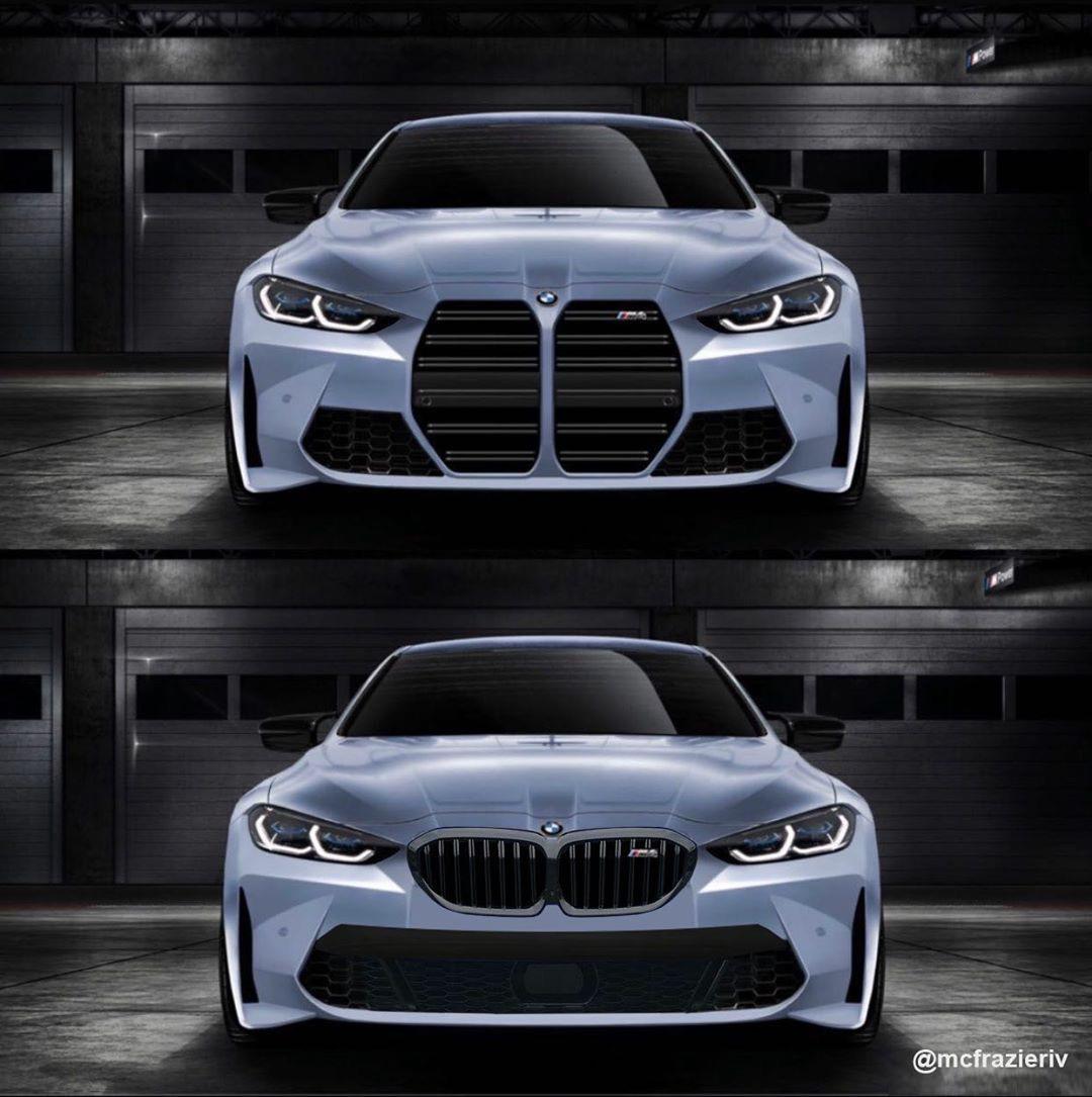 BMW m4 rendering kidney grille