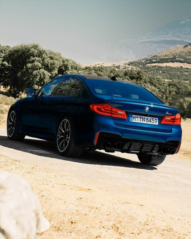 The BMW M5 Competition in Le Mans Blue 1 665x830