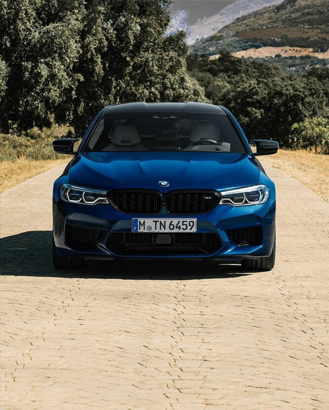 The BMW M5 Competition in Le Mans Blue 2 665x830