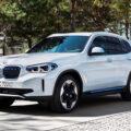 2021 BMW iX3 Elektro X3 SUV enthuellt Front 120x120