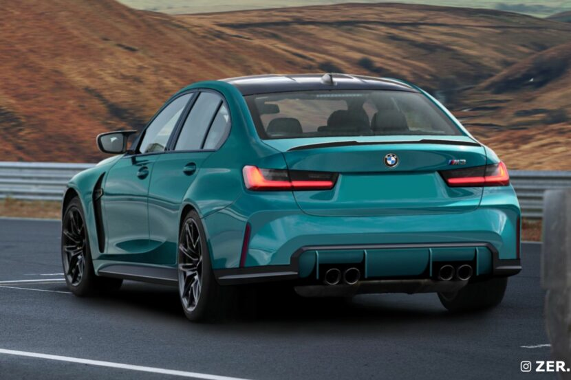 2022 bmw m3 rendering rear end 00 830x553