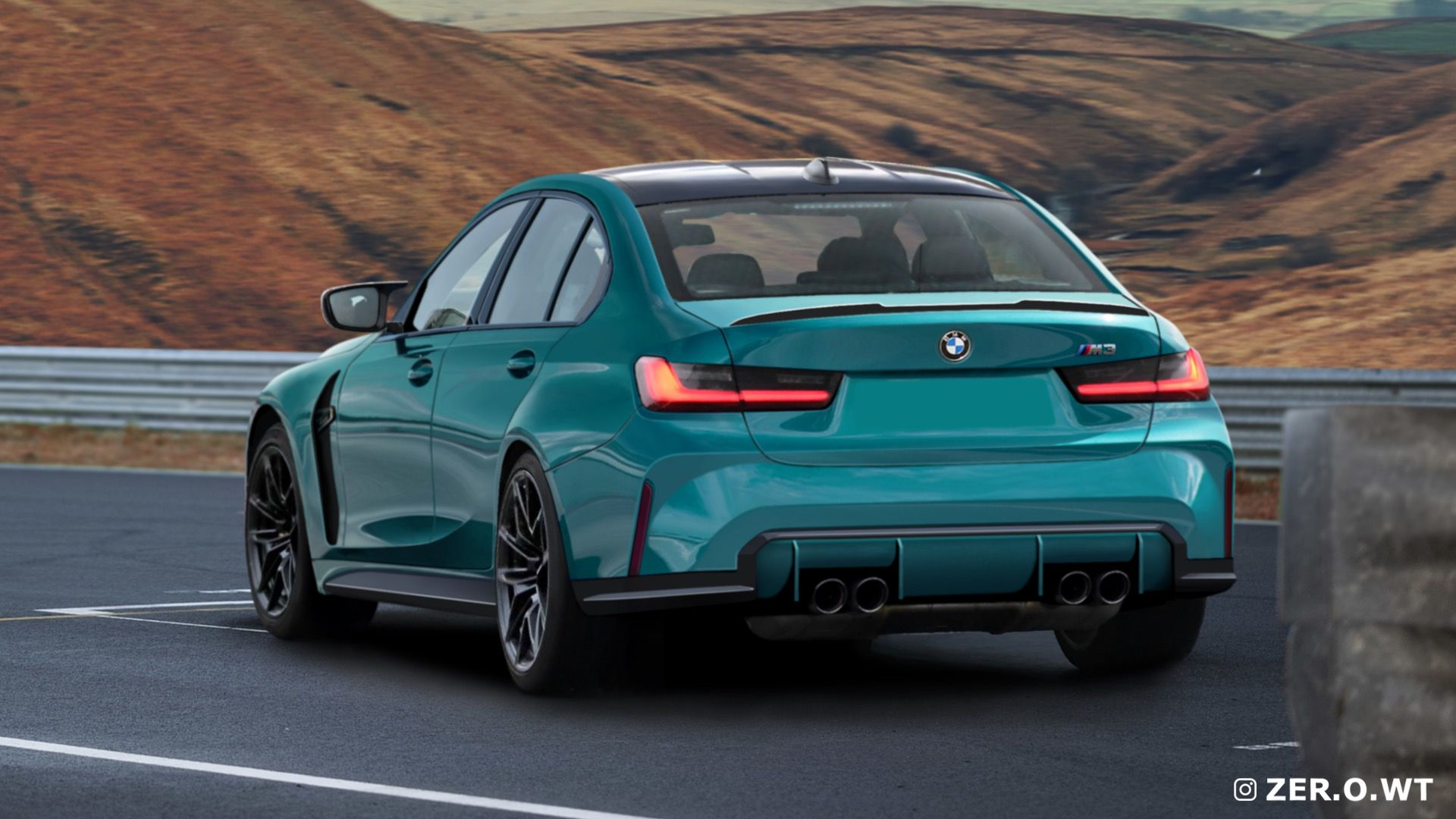 2022 Bmw M3 Gets Rendered From Behind Here Is A New Image