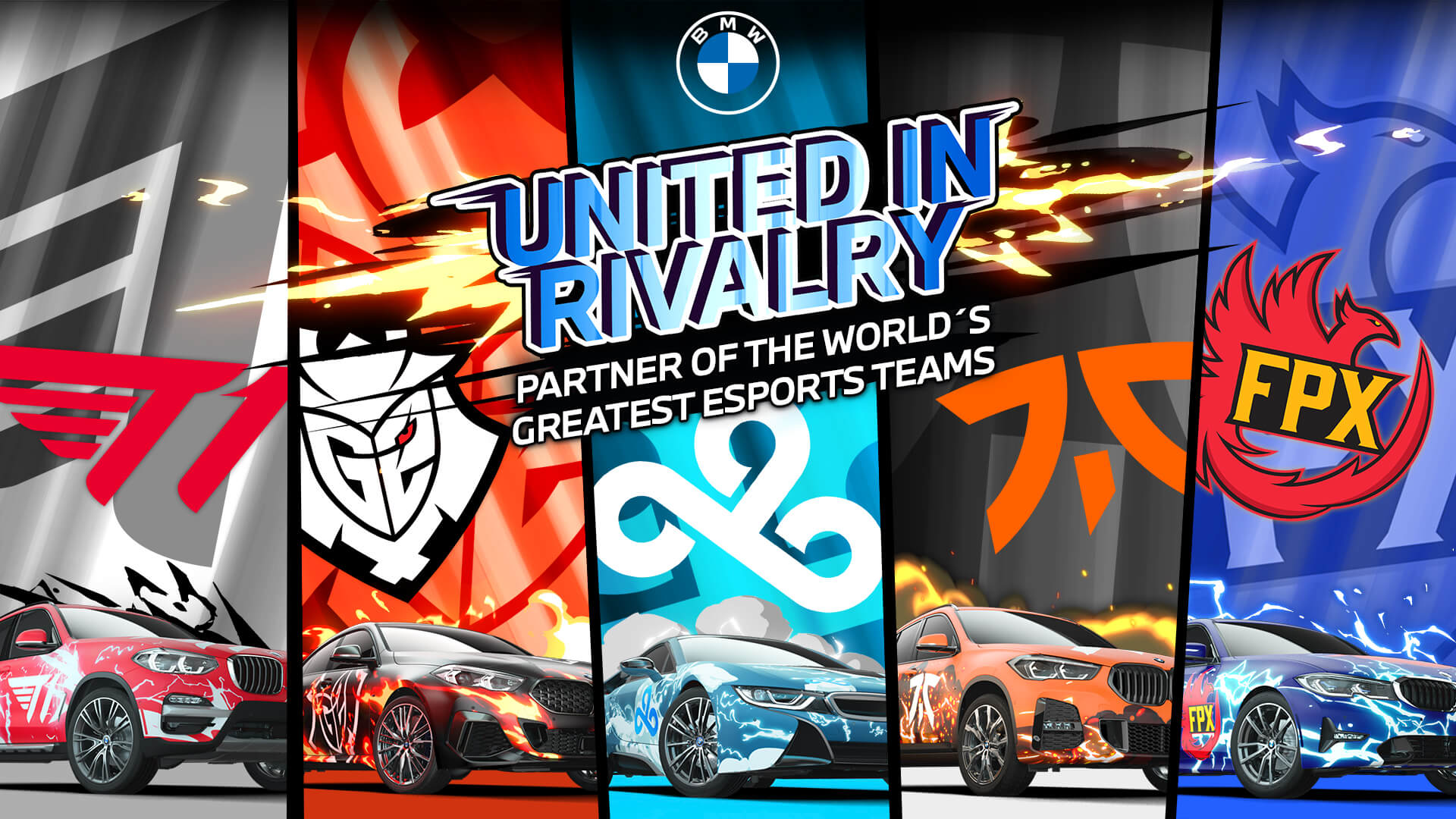 BMW Cloud9 T1 Fnatic G2 FunPlus Phoenix
