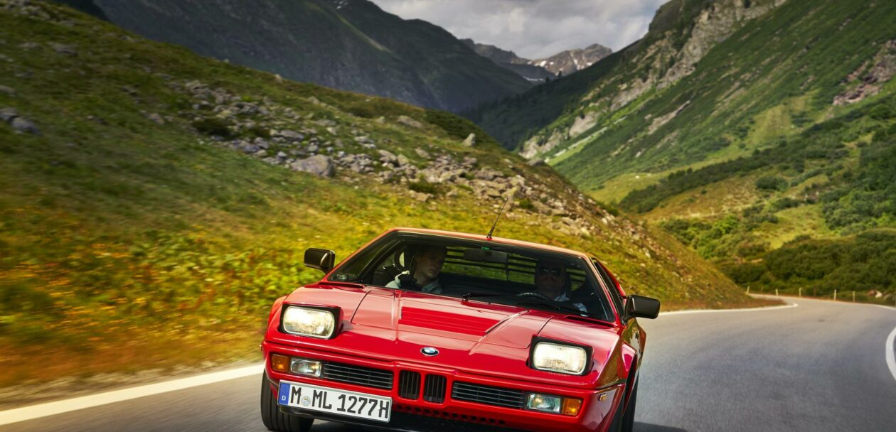 BMW M1 red supercar 11 1260x608