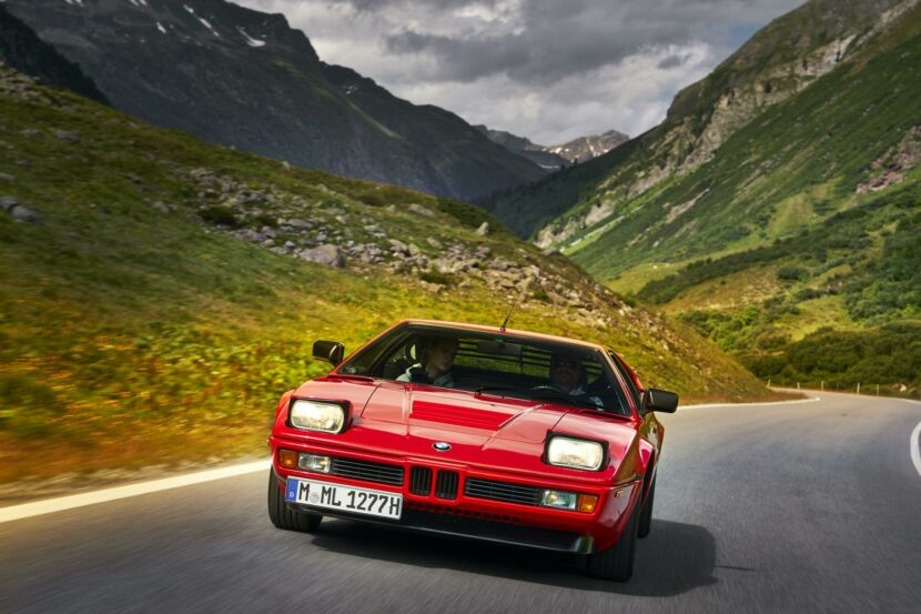 BMW M1 red supercar 11 830x553