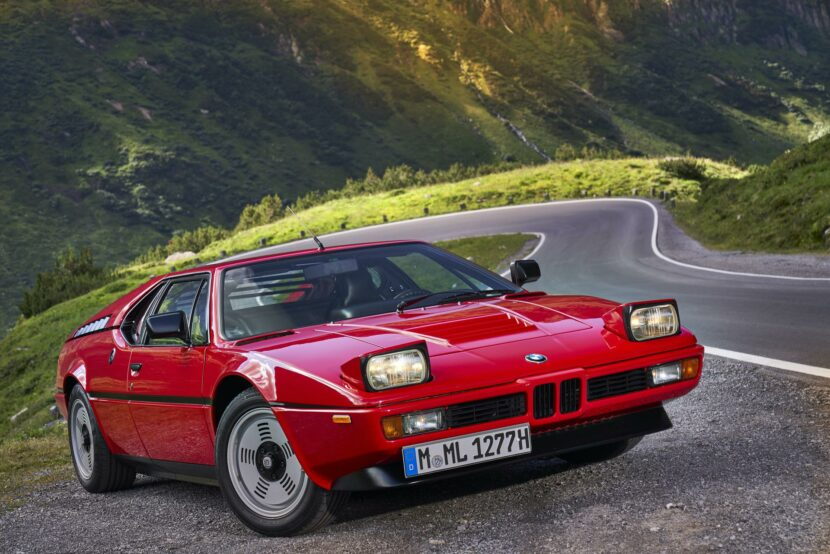 BMW M1 red supercar 15 830x554