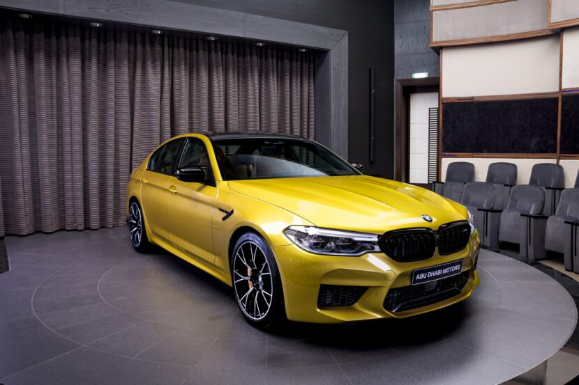 BMW M5 Competition Individual F90 in Austin Yellow metallic 2 830x553