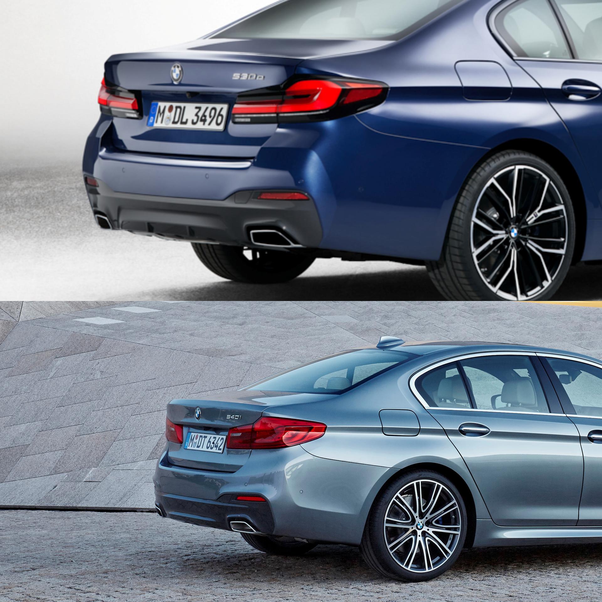 2021 BMW 5 Series LCI: A short comparison with the pre-LCI ...