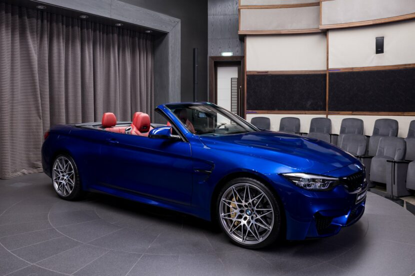San Marino Blue BMW M4 Competition Convertible F83 1 830x553