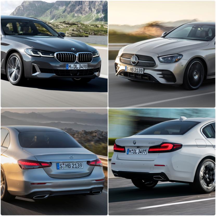 Photo Comparison: BMW 5 Series LCI vs. Mercedes-Benz E-Class