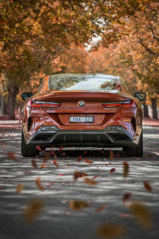 BMW M850i xDrive Coupe in Sunset Orange AU 34 554x830