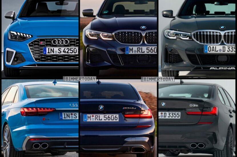 Bild Vergleich BMW Alpina D3 S M340d G30 Audi S4 TDI Limousine 2020 1024x767 2 830x553