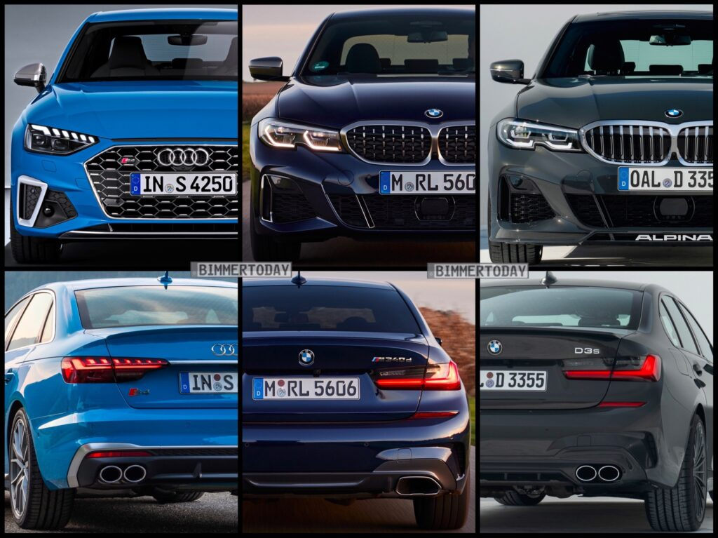 Bild Vergleich BMW Alpina D3 S M340d G30 Audi S4 TDI Limousine 2020 1024x767 2