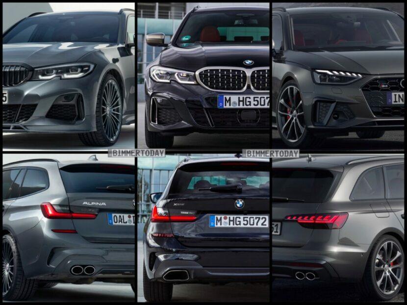 Bild Vergleich BMW Alpina D3 S M340d G31 Touring Audi S4 TDI Avant 2020 1024x767 1 830x622