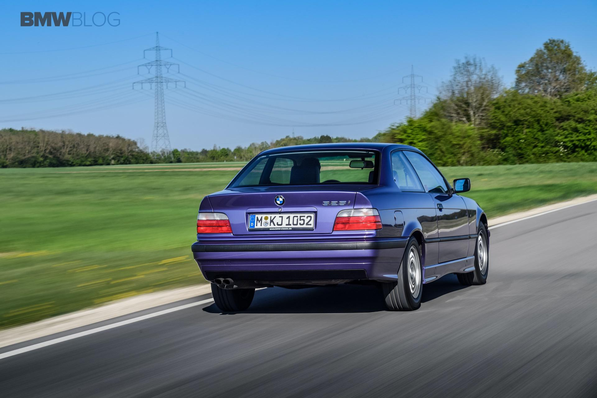 Test Drive E36 Bmw 325i In Individual Violet Metallic