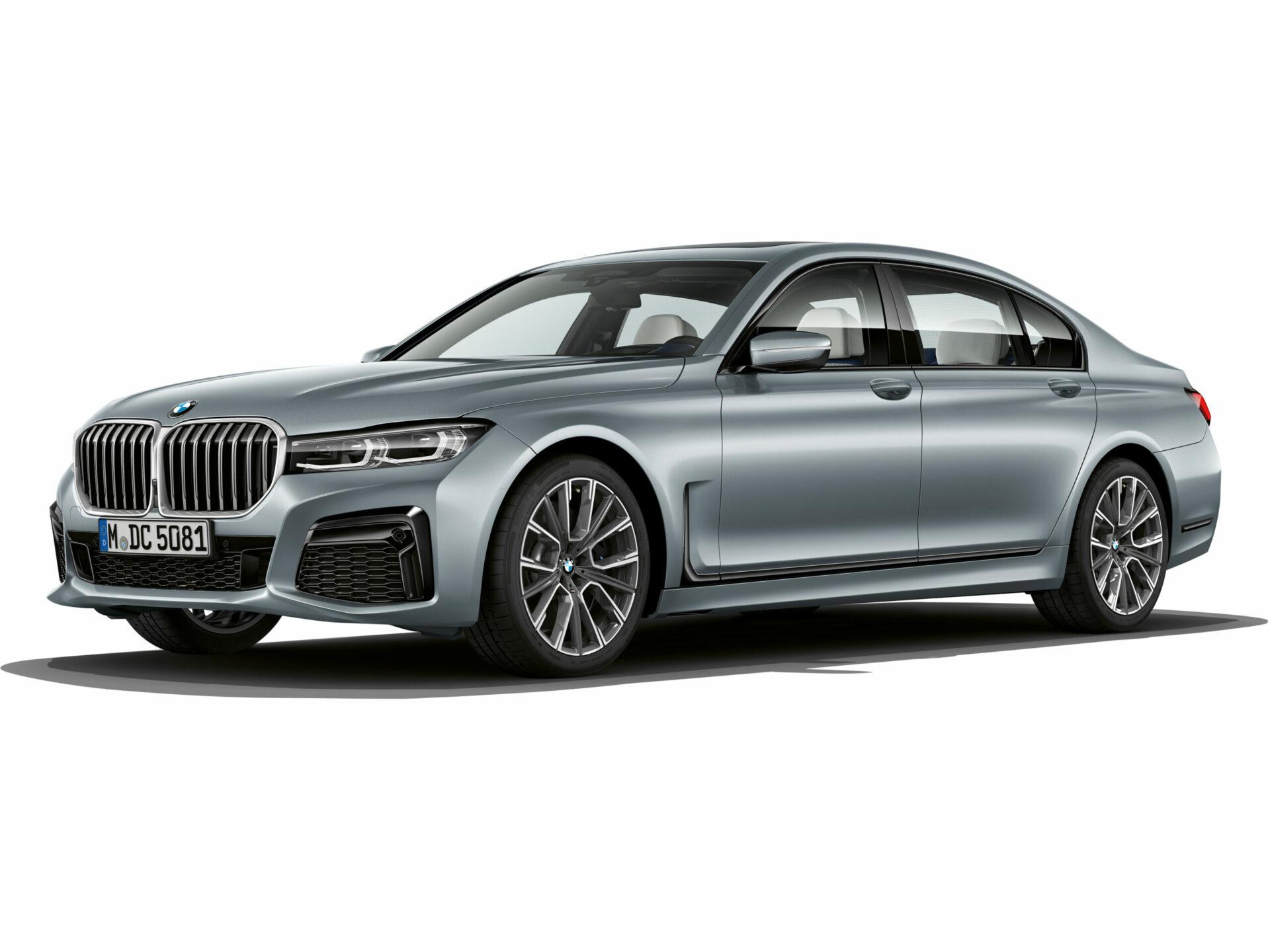 The BMW 7 Series in Frozen Bluestone metallic 1 scaled e1590575986366