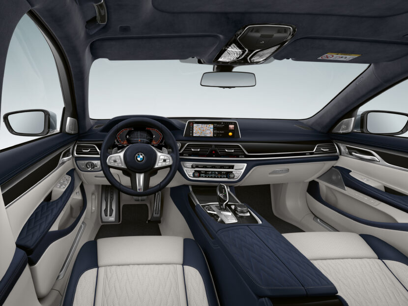 The BMW 7 Series with Ivory White Night Blue Black interior 1 830x622