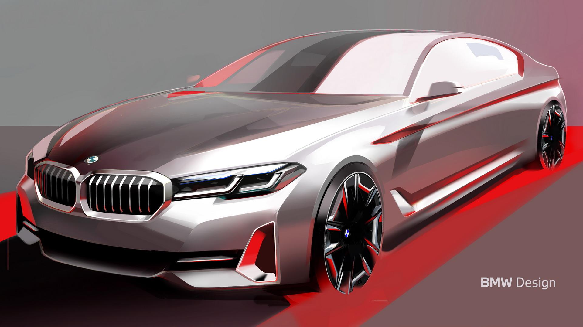 The New BMW 5 Series LCI Design Sketch 1