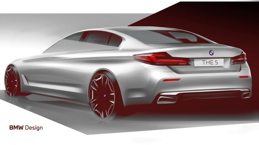 The New BMW 5 Series LCI Design Sketch 3 830x466
