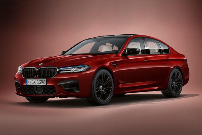 2020 BMW M5 F90 LCI Aventurinrot 830x553