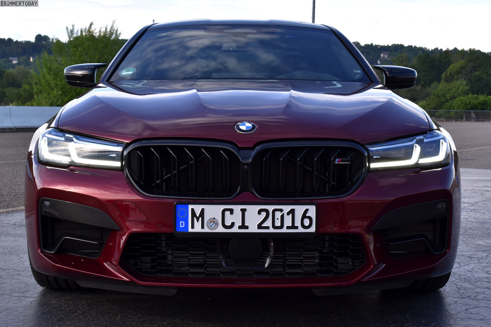 2021 Bmw M5 Facelift In Aventurine Red Real Life Photos