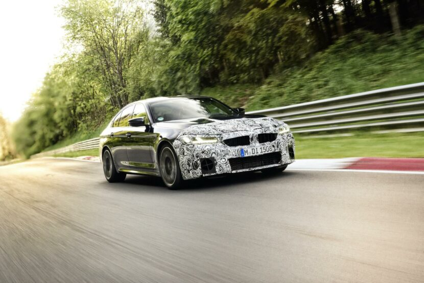 2021 BMW M5 Facelift Nurburgring 00 830x553