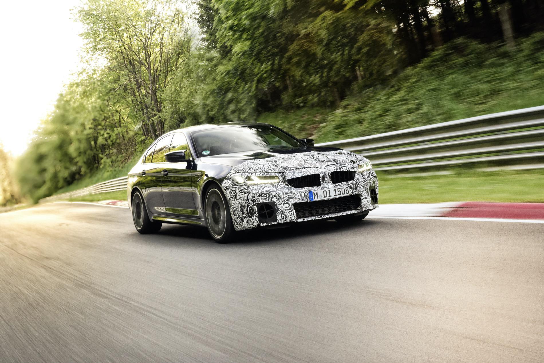 2021 BMW M5 Facelift Nurburgring 00