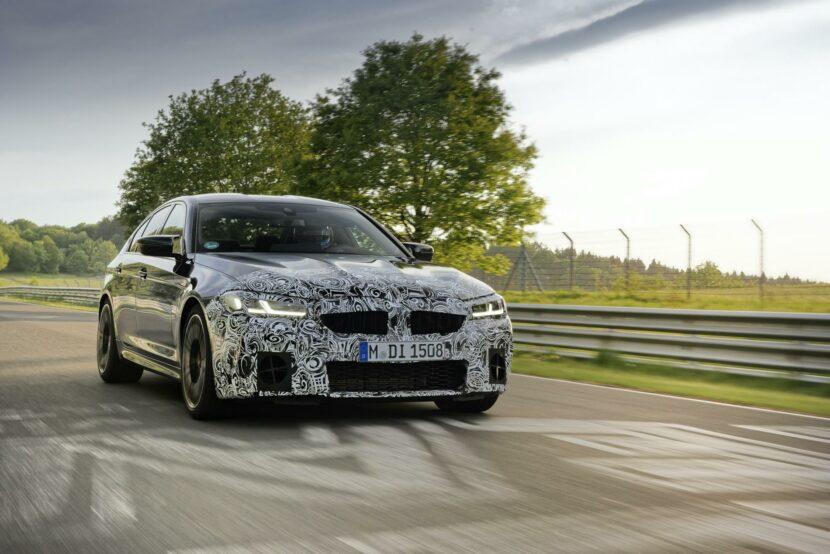 2021 BMW M5 Facelift Nurburgring 03 830x554