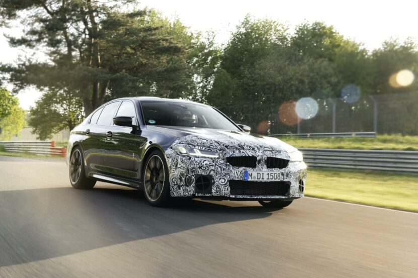 2021 BMW M5 Facelift Nurburgring 05 830x553