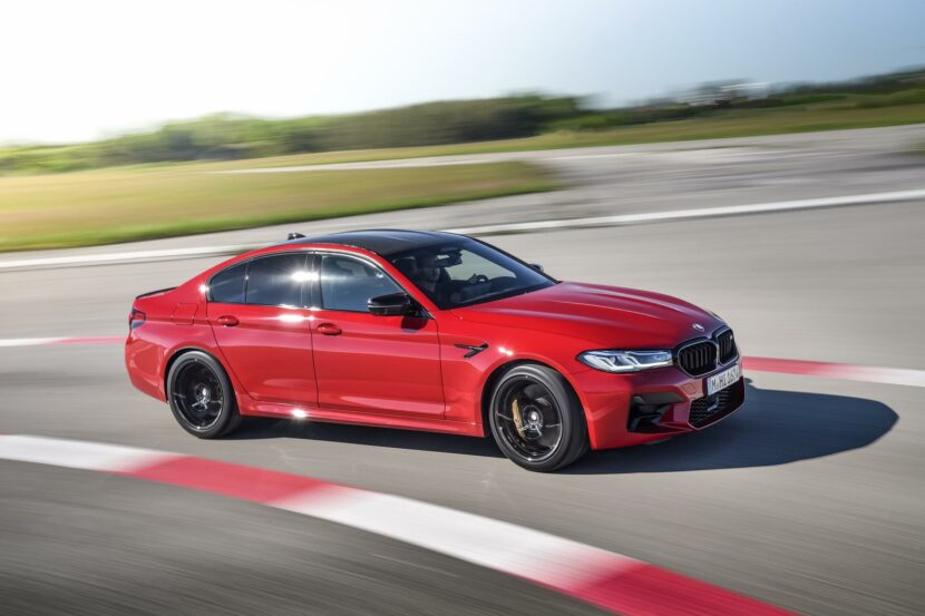 2021 bmw m5 facelift race track 06 830x553