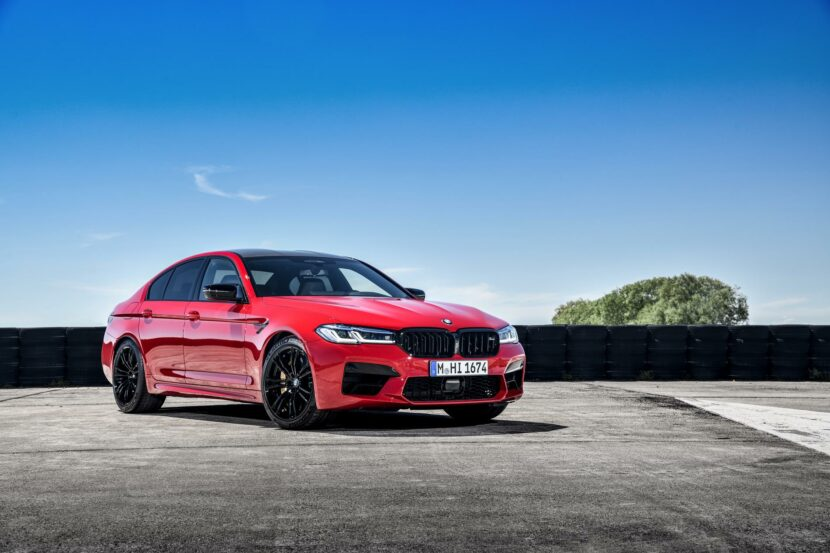 2021 bmw m5 facelift race track 17 830x553