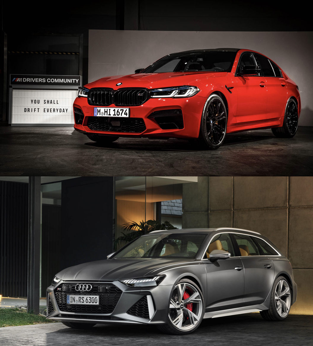 Photo Comparison 2021 Bmw M5 Lci Vs Audi Rs6 Avant Carlibrary